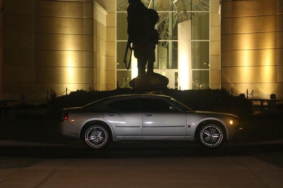 Dodge Dodge Challenger Military Ironmike Fortbragg Car Golden Nightphotography Night Lights Night Photography Nightlife AMPt_community