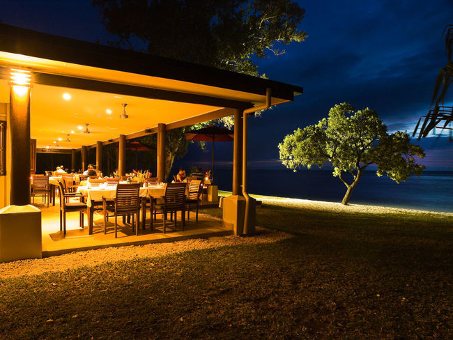Romantic Dinner for Two Beach View Port Vila Vanuatu Port Vila Vanuatu Architectural Column Architecture Beach Beauty In Nature Blue Chair Dinner Dinner For Two Illuminated Outdoors Pacific Pacific Ocean Resort Restaurant Romantic Dinner Sky Tranquility Travel Destinations Tree View Of Water