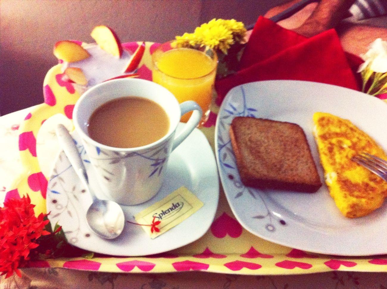 Breakfast On Bed❤