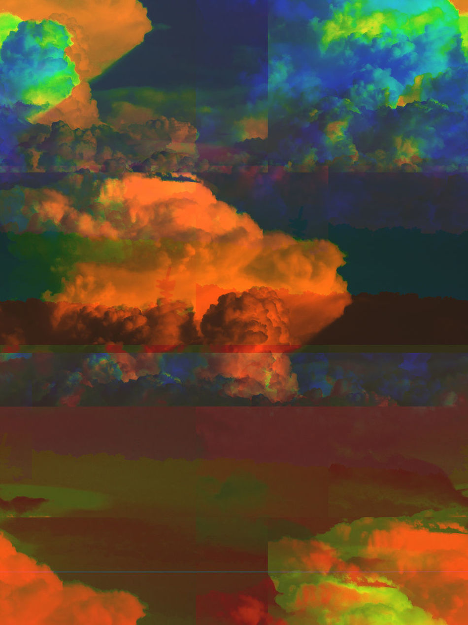 Databending Sky And Clouds Abstract