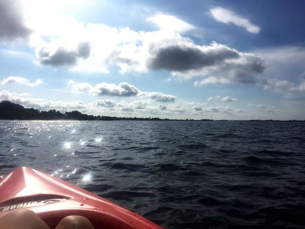 Kayaking Blue Open Sky Open Water Bay Soul Therapy