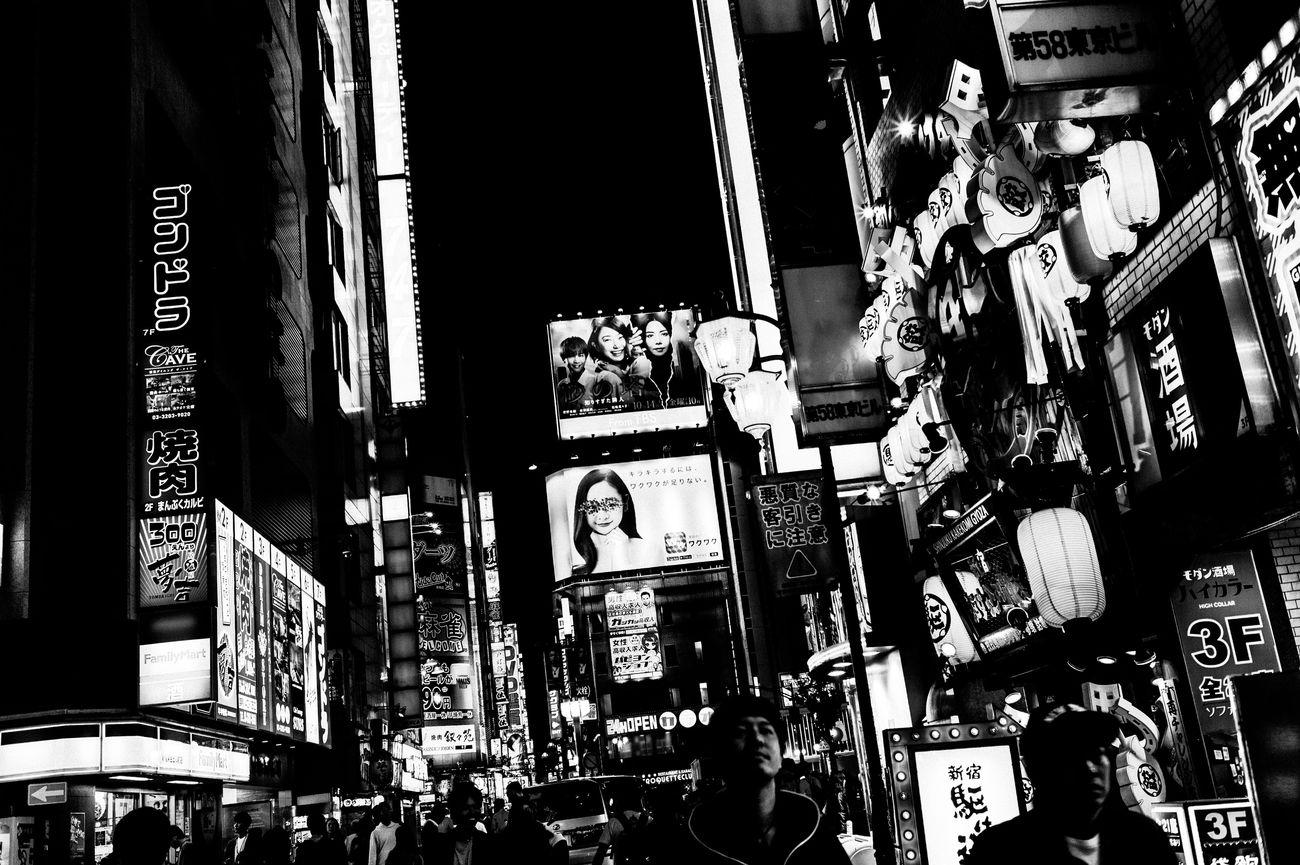 Street Streetphotography People Leicacamera Street Photography EyeEm Best Shots 35mm Capture The Moment Tokyo Street Photography Blackandwhite Monochrome Nightlife Night Neon Cityscape Light Illuminated Monochrome Photography