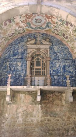 Portugal Óbidos  Traditional Fresco Built Structure Architecture No People Religion Day Place Of Worship Indoors