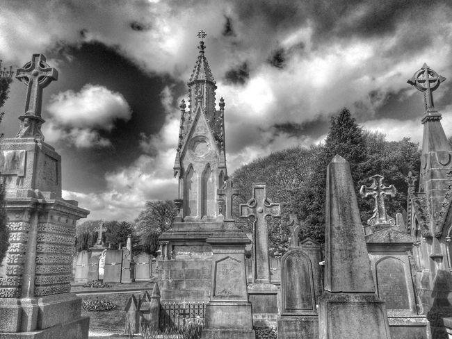 Cemetery Dublin Black And White