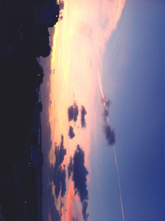 Beautiful Sunset Sky La Rochelle