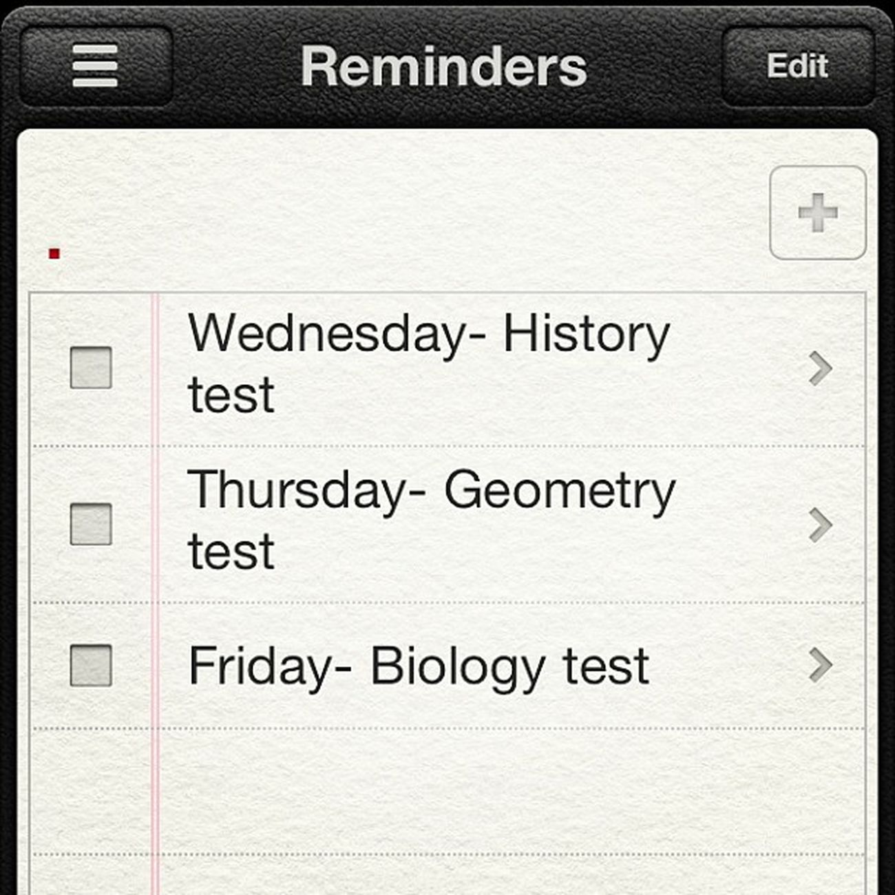 What my week consists of!?Whoo Testaftertest Yah Wednesday thursday and friday fun history geometry biology