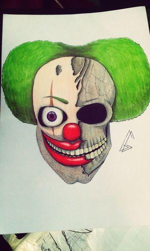 Art Doodle Drawing Skull