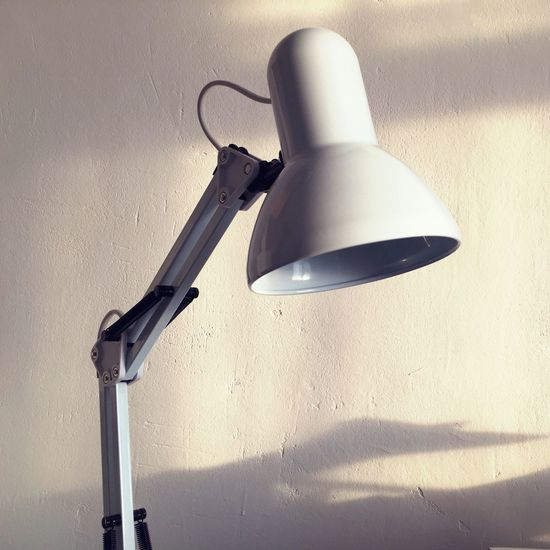 #daylight #day #whitewall #lamp Shadow Indoors  No People Technology Day Architecture Close-up