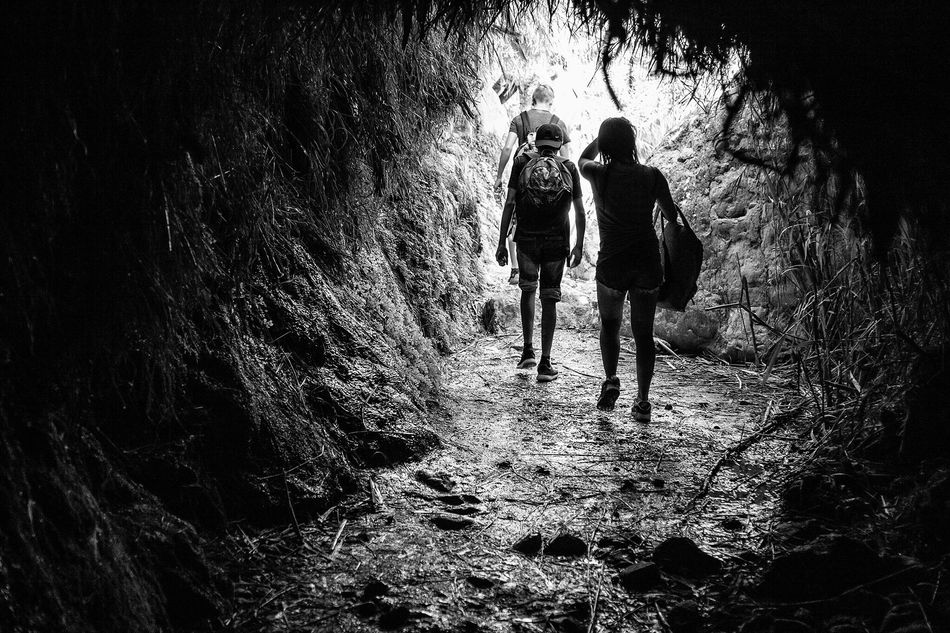 Out of the dark ... Walking Nature Rear View Adventure Blackandwhite Photography Black And White Blackandwhite Amazing Foto
