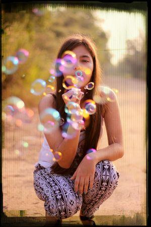 Bubbles Portrait Cuteness Colorlove