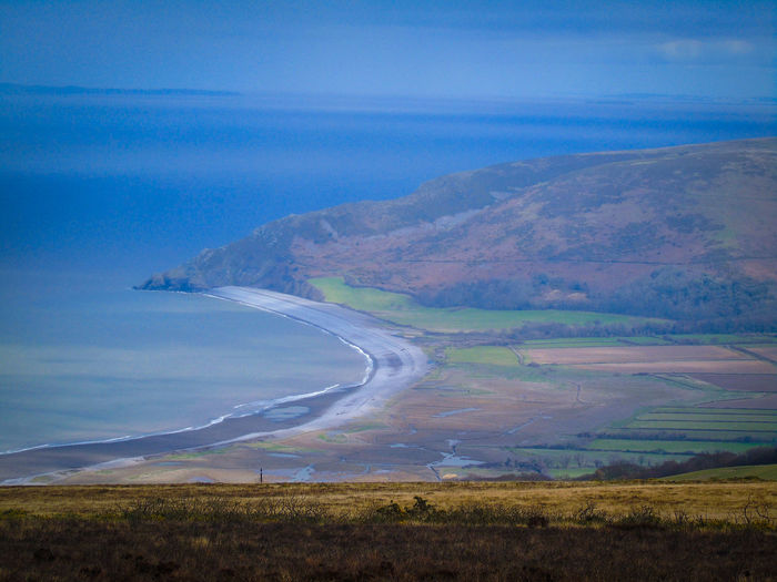 Blue Landscape Aerial View Winding Road Beauty In Nature No People Outdoors Rural Scene Beauty In Nature Nature On Your Doorstep Exmoor Nationalpark Nature Sky Day Porlok Bay
