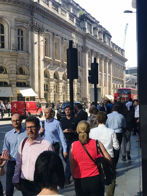 Architecture Building Exterior Built Structure Large Group Of People Men City Outdoors Real People People Day Women Group Of People Crowd Togetherness Adult Sky Politics And Government Adults Only Only Men Londoners Street Office London Brexit Workers