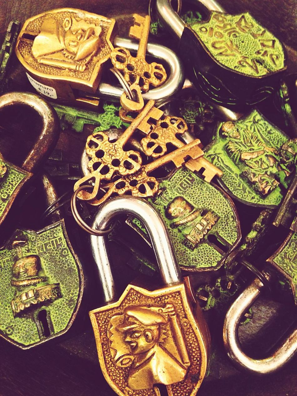 I've got the key.. I've got the secret.. High Angle View History Green Color Group Of Objects Collection Keys Locks Mystery Behind Closed Doors Home Accessories Accessoires