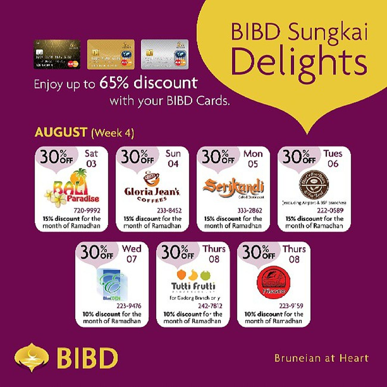 Final week of Bibd SungkaiDelights featuring awesome discounts at GJC, @coffeebean_brunei, and Misato among others! Lovefoodhatewaste Yummyinmytummy Ramadhan Sungkai Brunei InstaBruDroid Andrography