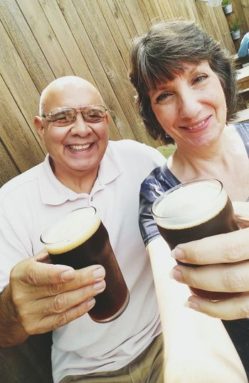 A stop at Town in City Brewing Company. Good dark porter 😄😄🍻🍺 Togetherness Love Leisure Activity Happiness Husband And Wife Soulmates And Best Friends Loveofmylife Beer Porter Houston Texas