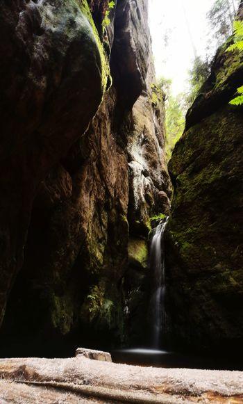 Adršpach Skalnemiasto Beauty In Nature Adršpachské Skály Czech Republic Mountains Nature Lover Naturelover Nature Nature Lovers Outdoors No People Water Waterfall Motion Rock - Object River