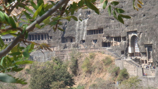 Ajanta caves are located in a India. It's a amazing ... :) Ajantacaves Cave Dmshah0009 DSLR Effect Little People Rock Sunlight And Shadows Tree Waterfall Looks