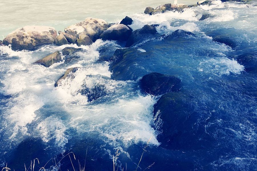 Valais Sea Wave Nature Water Beauty In Nature Blue No People Rock - Object Beach Motion Outdoors Day Scenics