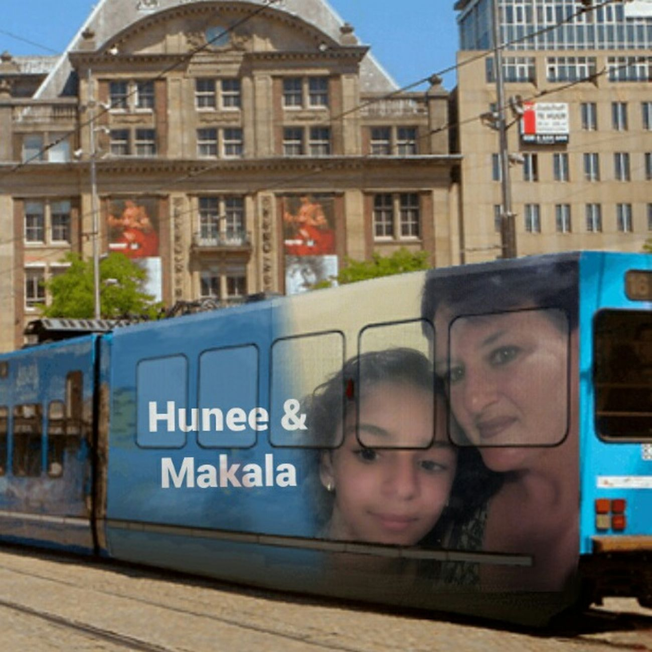 Mrs.Hunee and my lovely Daughter Makala