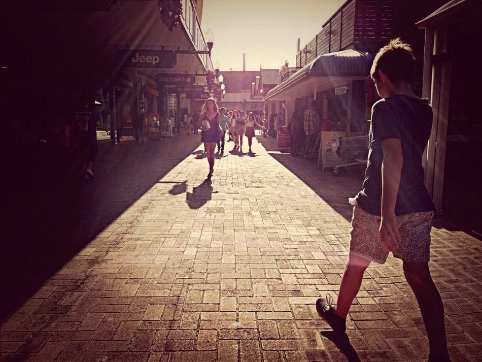 Walking Around People Watching Shopping Takeing Pics