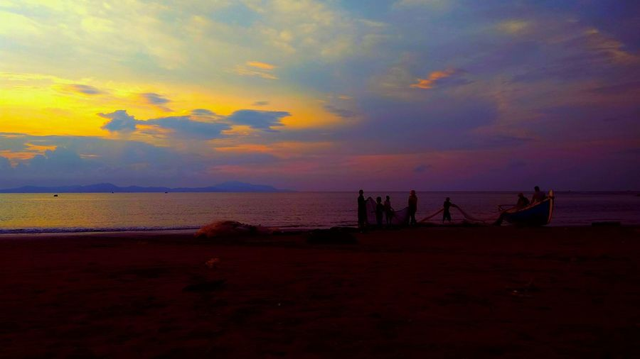 Sunset Travel Destinations Sea Water Beach Nature Horizon Over Water Outdoors Sky