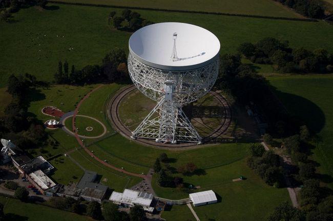 Radio Telescope Lovell Telescope Arial View
