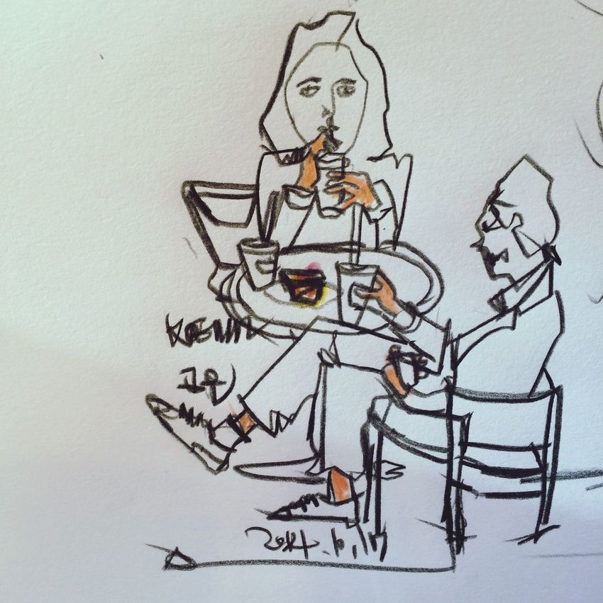 Starbucks Drawing Contour Drawing Contour