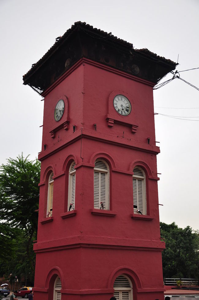 Famous red building in Melaka Stadthuys. Used to be museum Red Building Red Tower Stadthuys Melaka Melaka Malaysia The World Heritage Clock Clock Tower Building Exterior Outdoors Day No People
