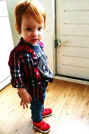 Toddler  Nike✔ Rocking Her Outfit Stoer Ginger Girl Red Hair Green Eyes First Eyeem Photo