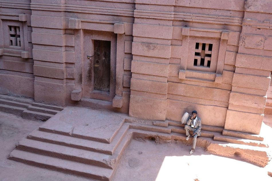 Architecture Building Exterior Built Structure Day Entrance Ethiopia EthiopianOrthodox Lalibela Ethiopia Monolith Monument No People Outdoors Rock Church Window
