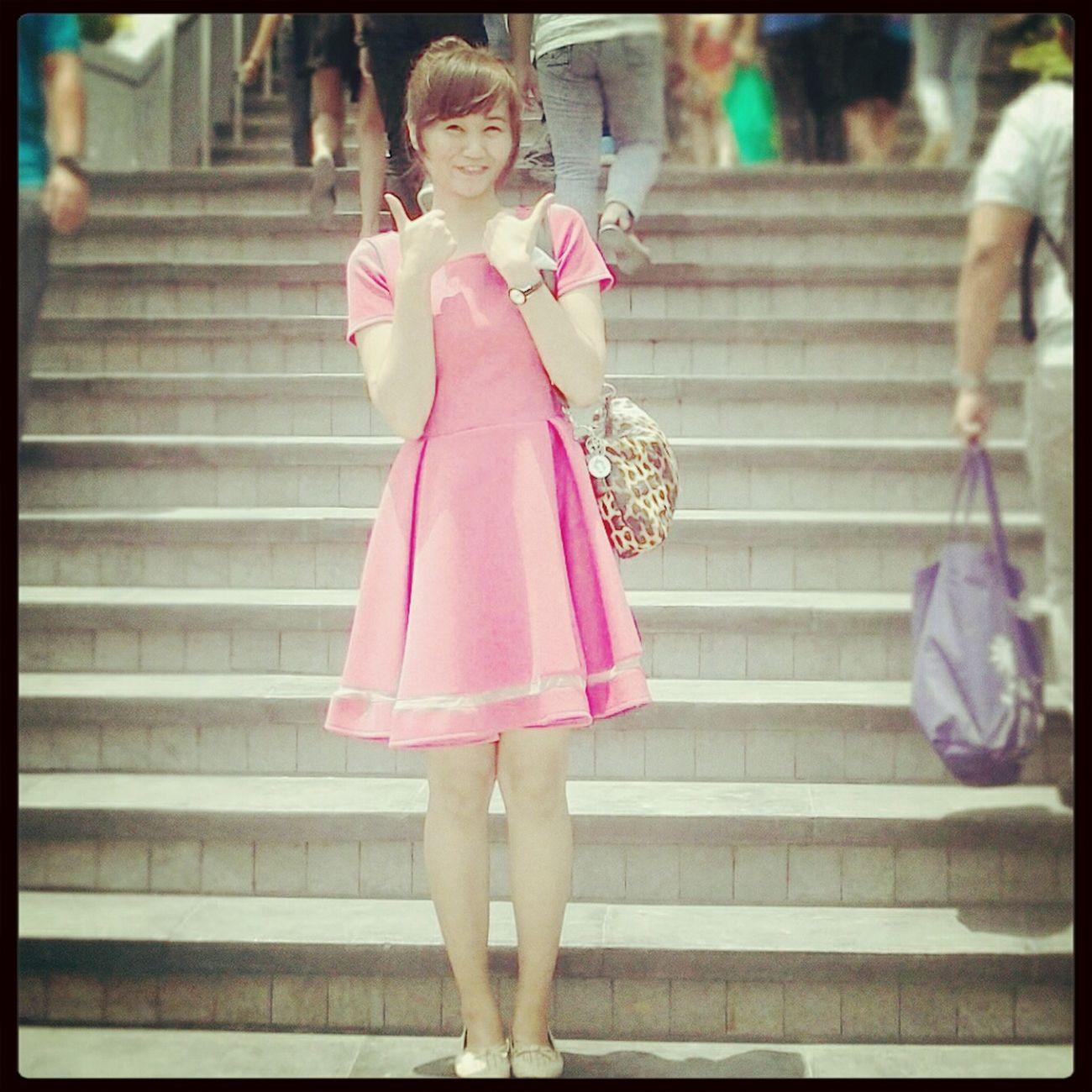 Fashiongirl  CutePinkDress MadeByMyMom Prouddaughter :)