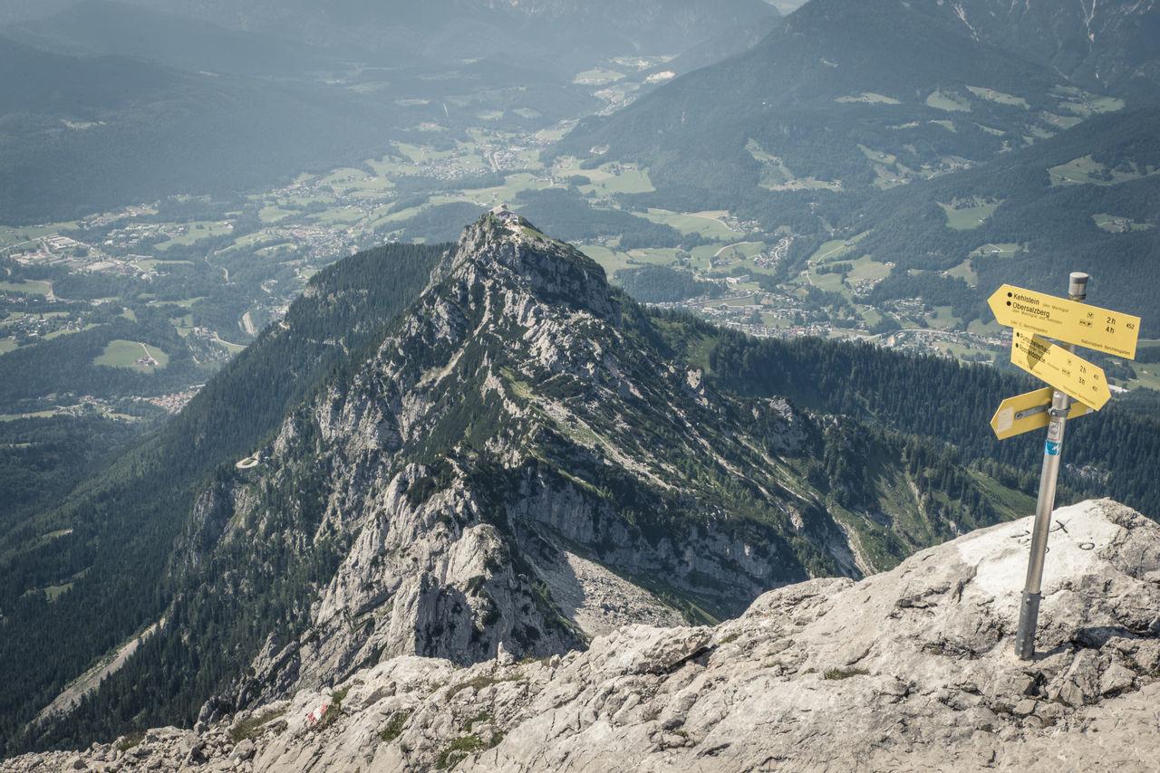 Berchtesgaden Climbing Forest Green Hiking Hills Hoher Göll Hut Kehlsteinhaus Mannlgrat Mannsteig Mountains Obersalzberg Path Purtschellerhaus Rocks Sign The Alps View Yellow The KIOMI Collection The Great Outdoors - 2016 EyeEm Awards Paint The Town Yellow