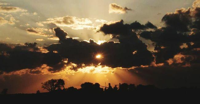 Wisconsin Sunset #sun #clouds #skylovers #sky #nature #beautifulinnature #naturalbeauty #photography #landscape Sunset Silhouettes