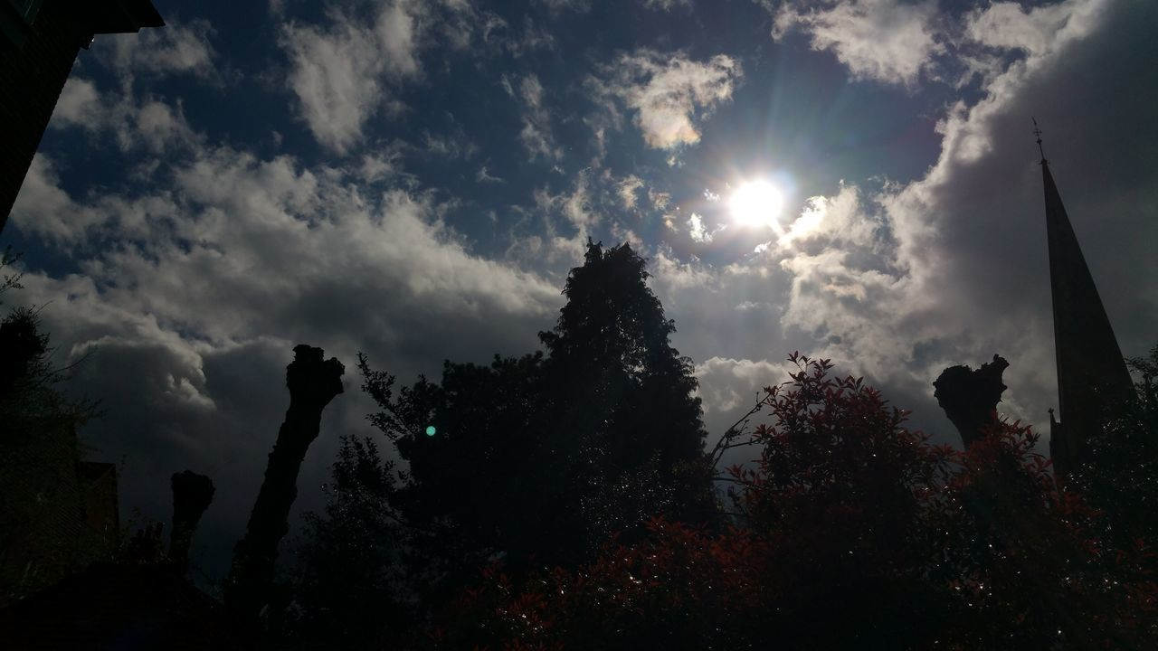 No Filters Or Effects Dark Sunshine Church Churchyard Trees Clouds Dramatic Weather
