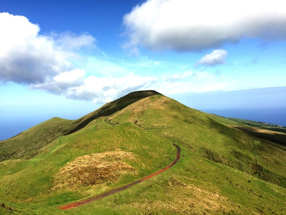 Tranquil Scene Scenics Tranquility Beauty In Nature Mountain Landscape Sky Non-urban Scene Nature Cloud - Sky Road Day Remote Outdoors Winding Road No People Mountain Range Physical Geography Azores Hiking Outdoor Photography Nature