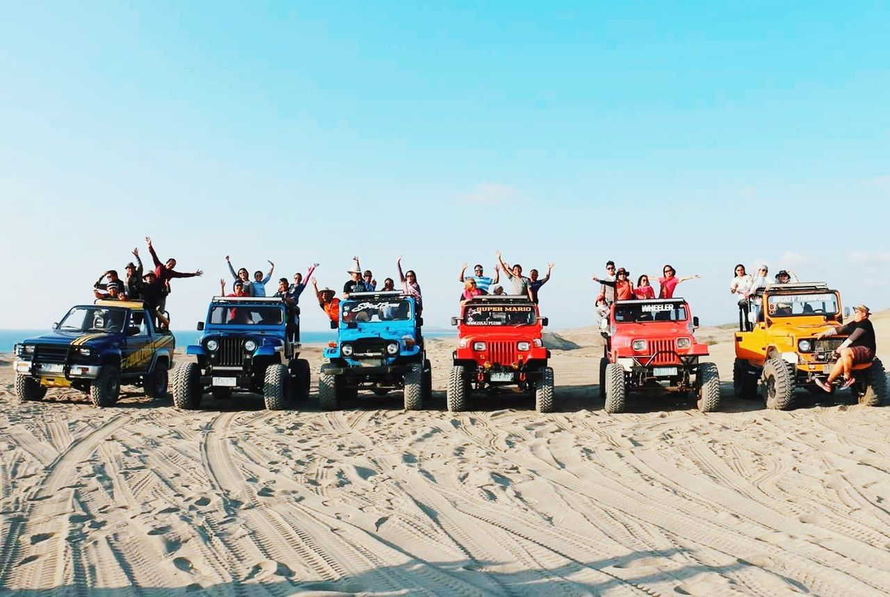 4x4 Paoay Sand Dunes Adventure First Eyeem Photo TravelPhilippines Travel Destinations Outdoors Sand Clear Sky Travel Photography The Great Outdoors - 2017 EyeEm Awards EyeEmNewHere