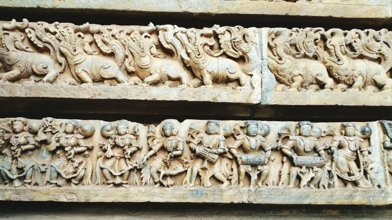 Worlds finiest architecture in the time of ancient India Variation No People Close-up Outdoors Day Bheluru Halebidutemple Sculpture Beauty In Nature Building Exterior Architecture Built Structure Ancient Civilization Cultures