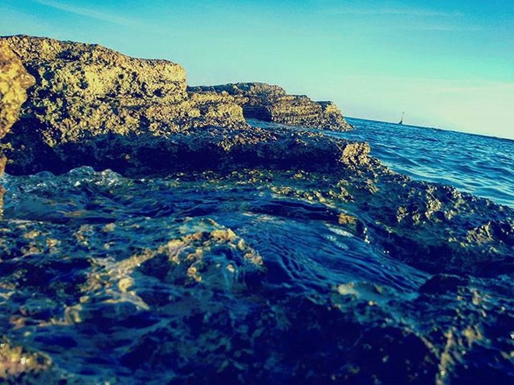 The beauty of The sea Throwback Latergramm Croatia Holiday Sea Ocean Cliffs Blue Sky Awsome Coast Love Waves Water Stones Draw Swim Crystal Clear Natureloversgallery