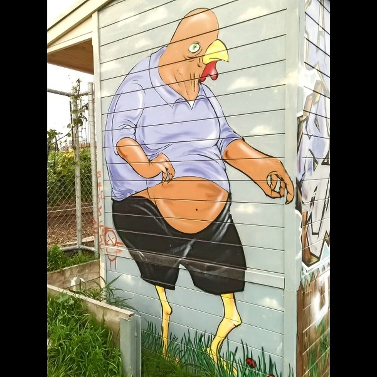 Chickenman Streetart Communitygarden Northfitzroy lumia 930 nokia wpphoto wp8au @_connects