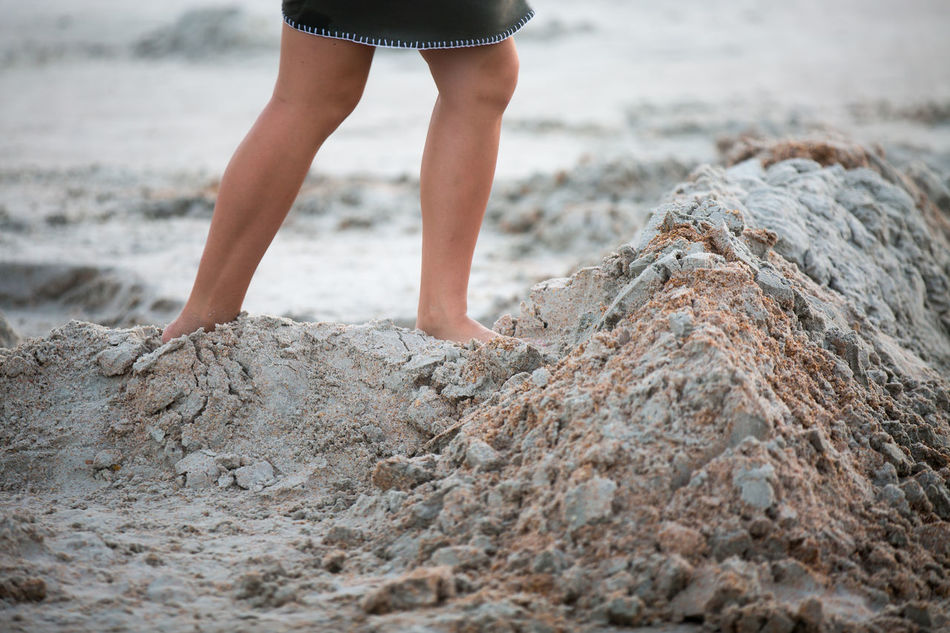 Beautiful stock photos of sand, Barefoot, Beach, Casual Clothing, Childhood
