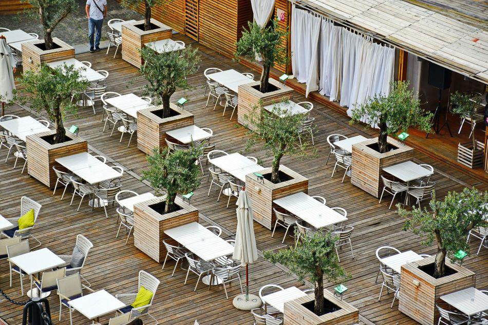 Beautiful stock photos of restaurant, Absence, Arrangement, Chair, Community