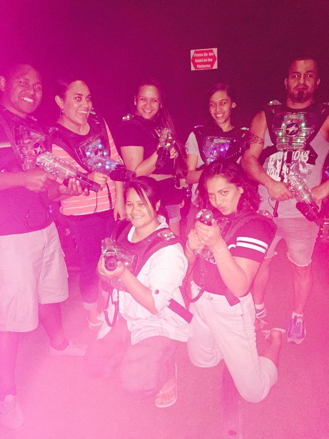 Weflawless Having Fun Lasertag Hanging Out Family Time