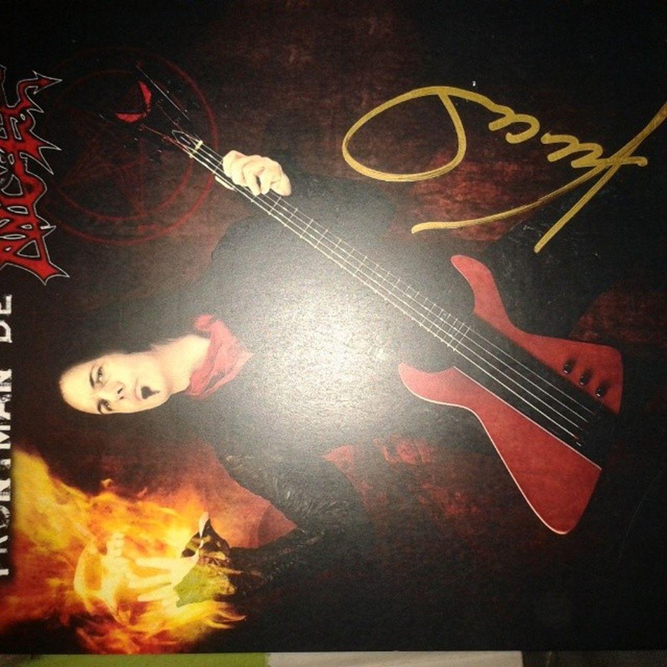 Cosas que me encontré en mi cuaderno DavidVincent Morbid Angel Autografo morbidangel