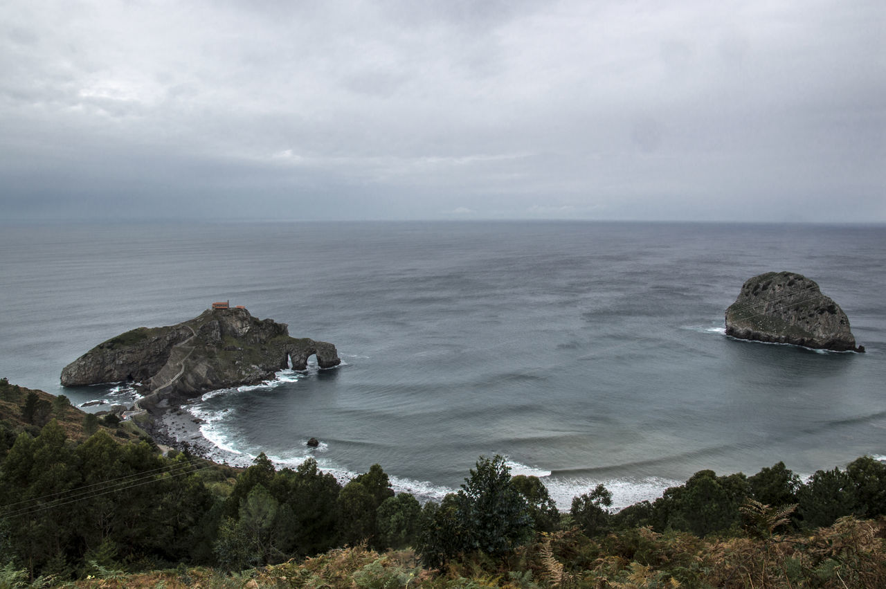 Beauty In Nature Cliff Day Horizon Over Water Landscape Nature Nature No People Ocean Outdoors Physical Geography Rock - Object Rock Formation San Juan De Gaztelugatxe Scenics Sea Sky SPAIN Tranquil Scene Tranquility Vizcaya Water