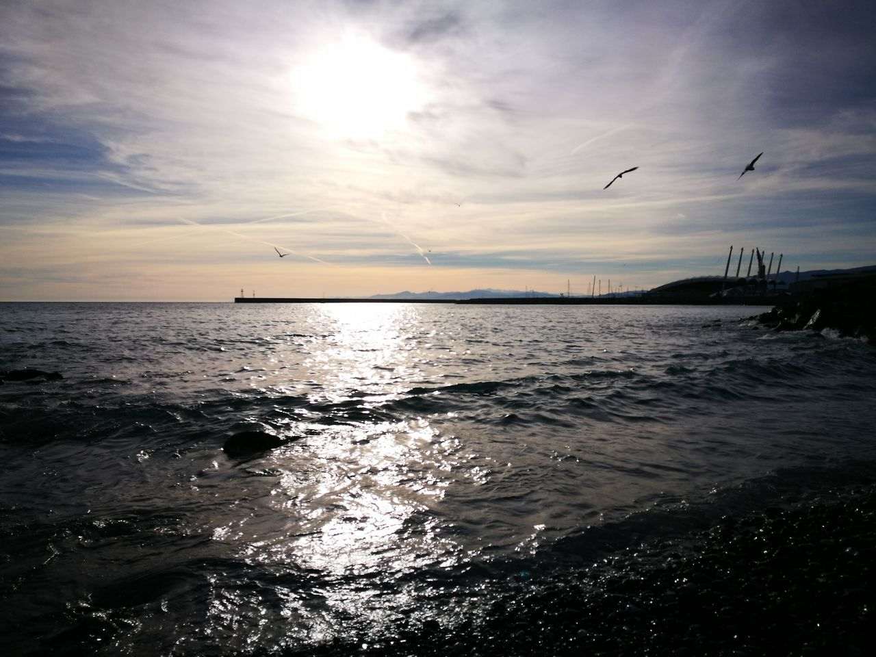 Cloud - Sky Beauty In Nature Beach No People Sky Sea Sunset BirdFlying Horizon Over Water Scenics Nature
