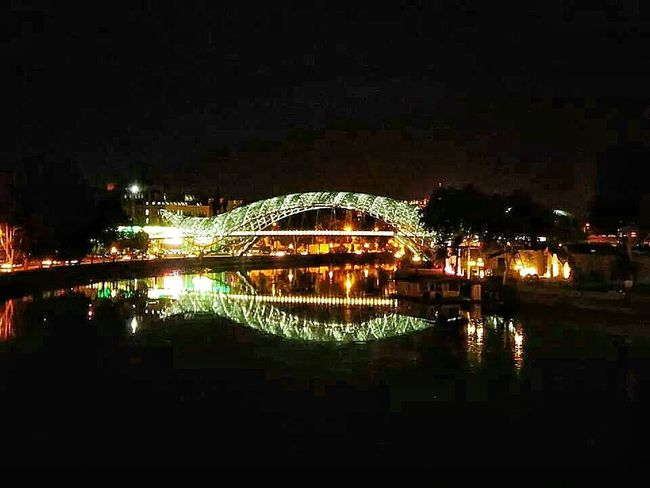 Tbilisi Ilovethiscity Night Lights Bridgeofpeace