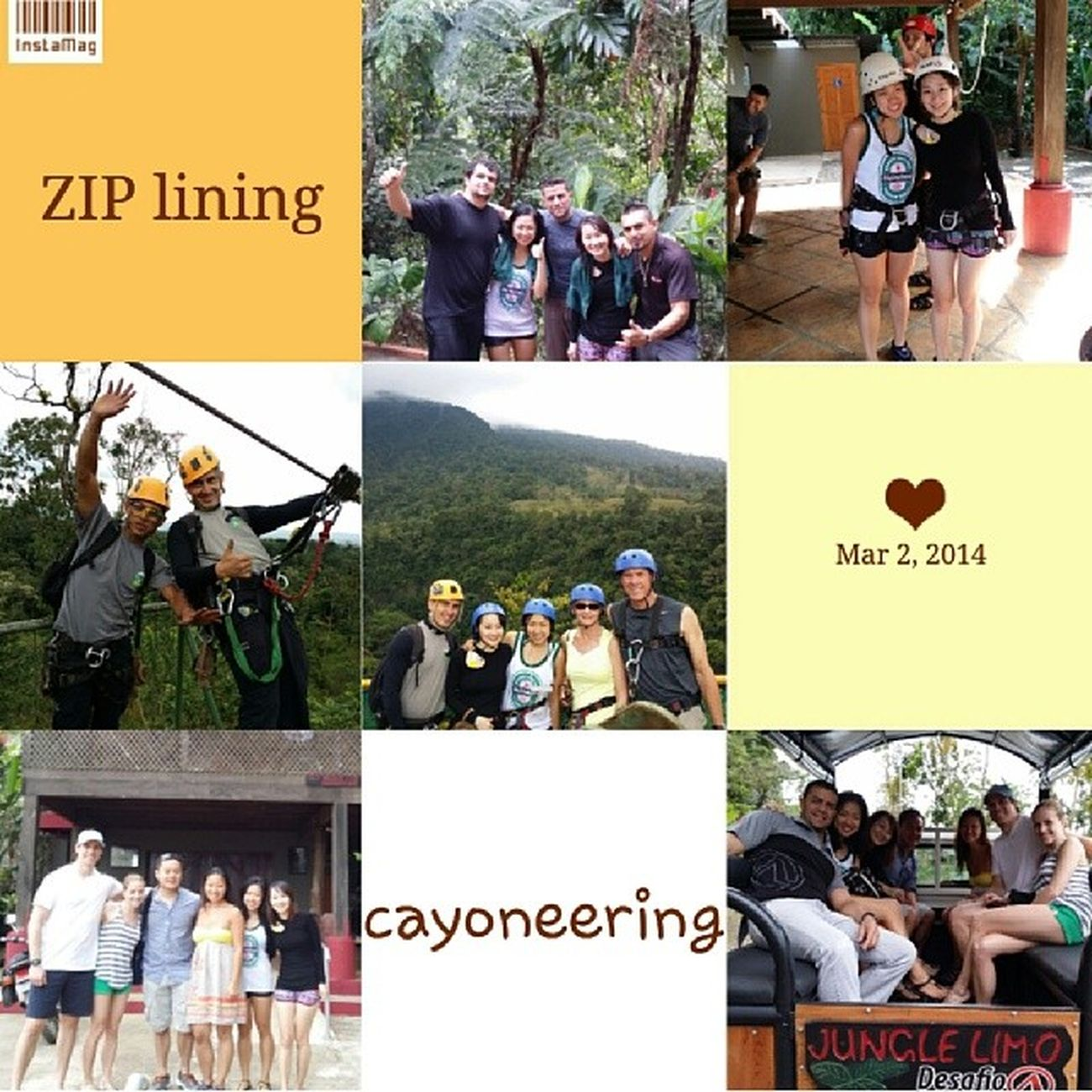 day 1: over 6km of ziplining and insane waterfall repelling with some amazing new friends! Tarzanwannabes Lafortuna