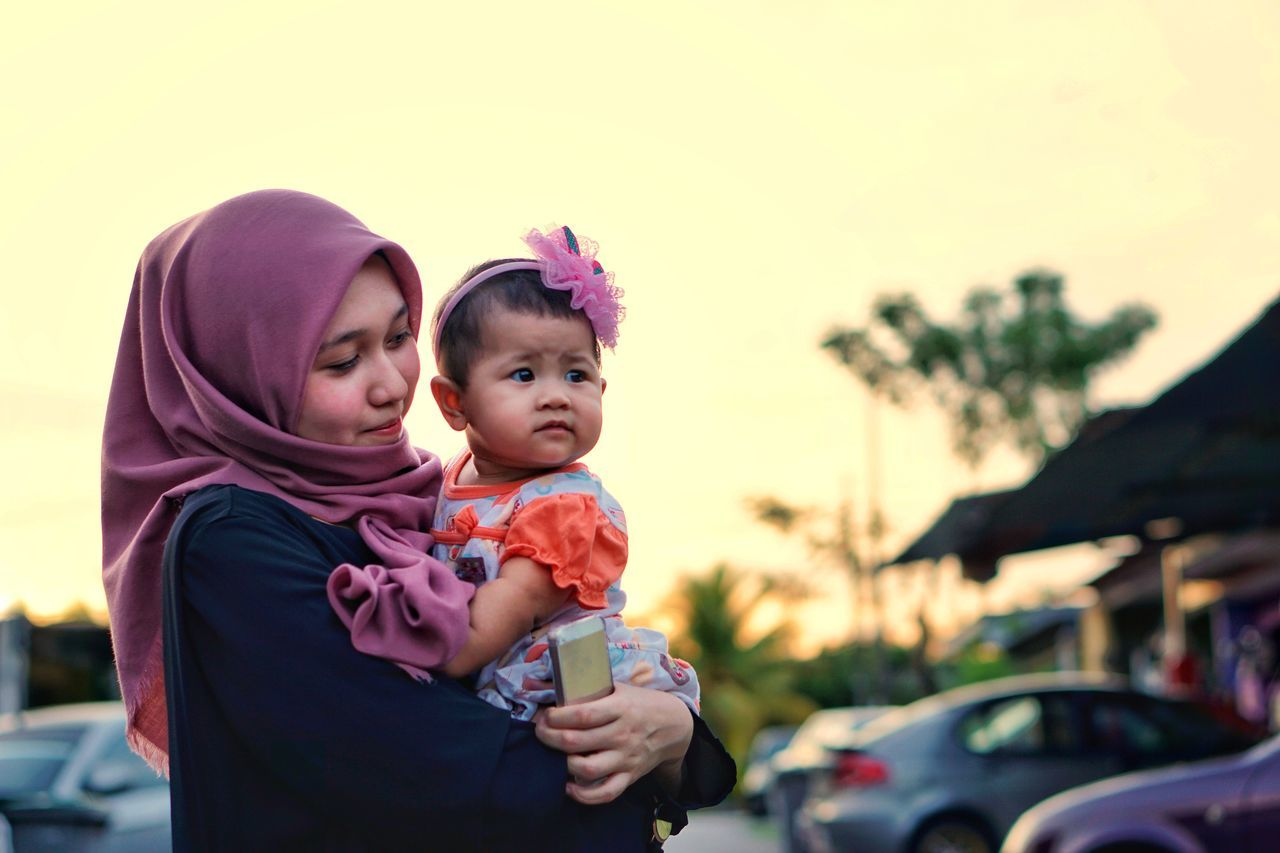 Baby Togetherness Mother Family With One Child Love Childhood Daughter Bonding Embracing People Adult Happiness Babyhood Holding Care Smiling Cute Affectionate Females Toddler  Asian  Family Malay Muslim Sister