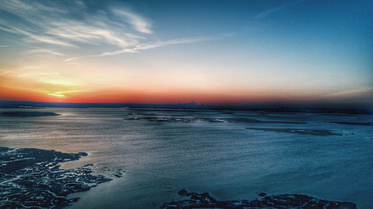 Art Is Everywhere nyc Sunset Landscape Sky Scenics Jamaica Bay new york city Dusk