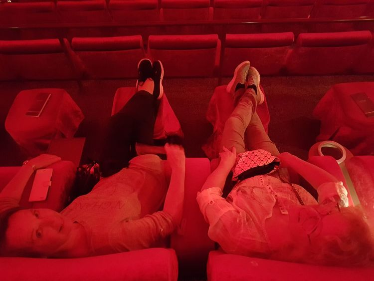 Red Indoors  Sitting Adult People Adults Only Human Body Part Cinema Cinema Seating EyeEm Diversity The Week On EyeEm Warm Light Warm Colors Warm Lighting Close-up No Edit/no Filter Full Frame Red High Angle View Interior Photography Happy People In Cinema  Astor Second Acts EyeEm Ready